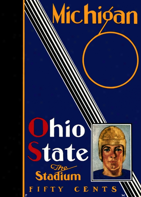 1930 Ohio State Buckeyes Vs. Michgian Wolverines 22 X 30 Canvas Historic Football Print