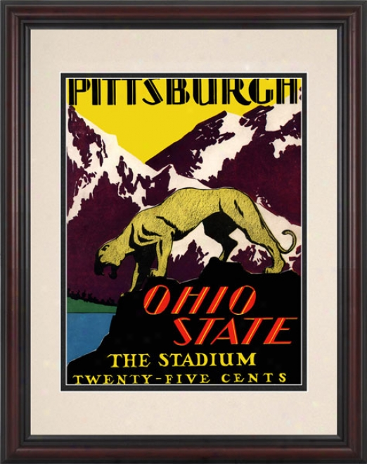 1930 Ohio State Buckeyes Vs. Pittsburgh Panthers 8.5 X 11 Framed Hsitoric Football Print