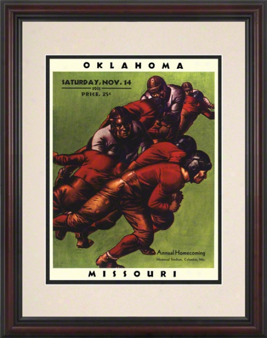 1931 Missouri Vs Oklahoma 8.5 X 11 Framed Hidtoric Football Print