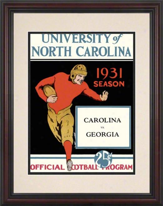 1931 North Carolina Vs. Georgia 8.5 X 11 Framed Historic Football Print