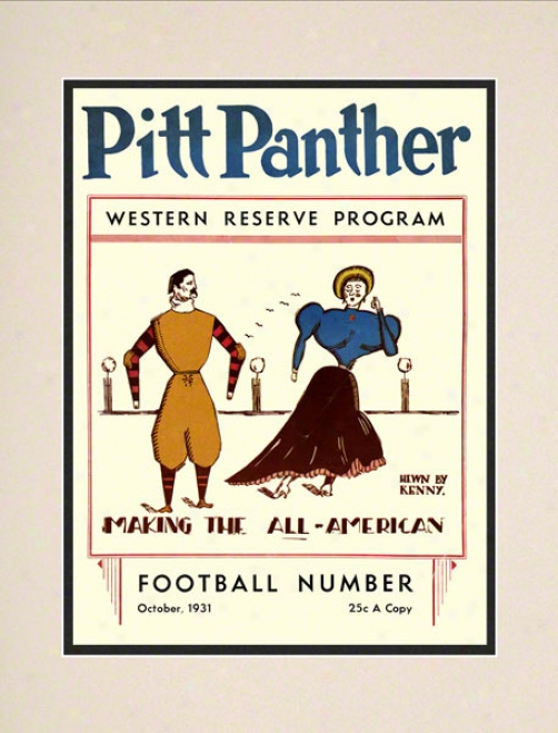 1931 Pitt Vs. Western Reserve 10.5x14 Matted Historic Football Print
