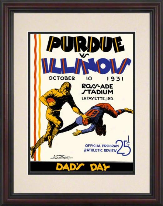 1931 Purdue Vs. Illinois 8.5 X 11 Fraemd Historic Football Print