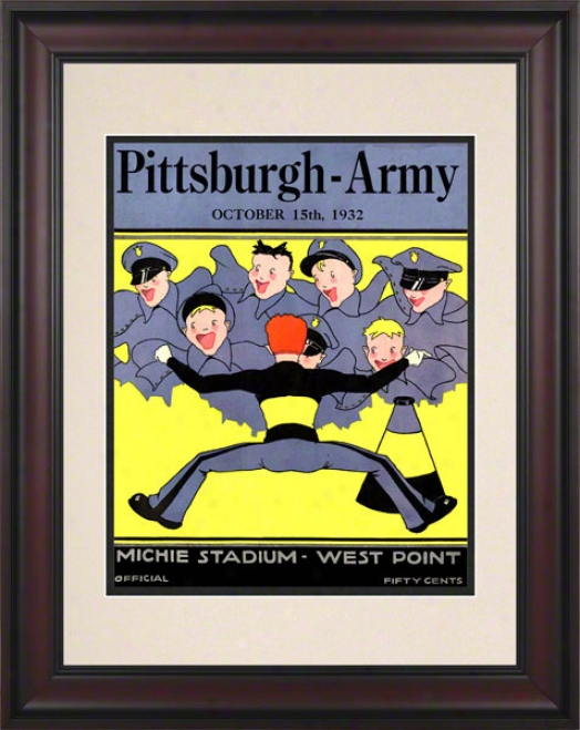 1932 Army Vs. Pitt 10.5x14 Framed Historic Football Print