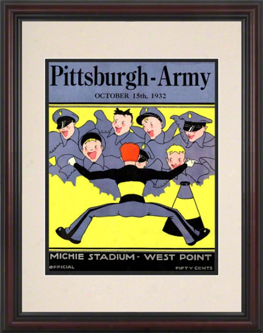 1932 Army Vs. Pitt 8.5 X 11 Framed Historc Football Print