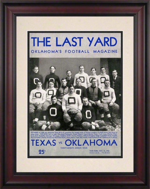 1932 Texas Vs Oklahoma 10.5x14 Framed Historic Football Printt
