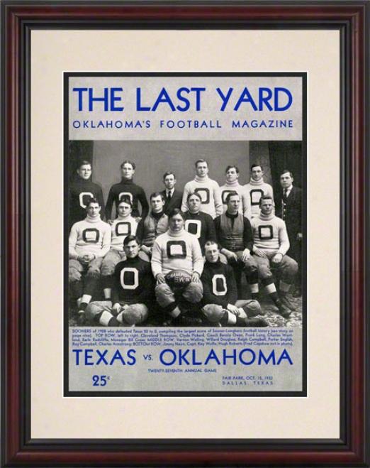 1932 Texas Vs Oklahoma 8.5 X 11 Framed Historic Football Print