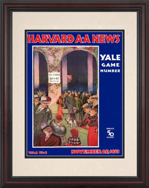 1933 Harvard Crimson Vs. Yale Bulldogs 8.5 X 11F ramed Historic Football Print