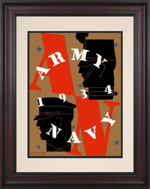 1934 Army Vs. Navy 10.5x14 Framef Historic Football Print