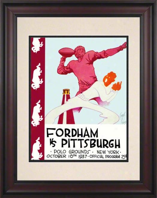 1937 Fordham Vs. Pitt 10.5x14 Framed Historic Football Print