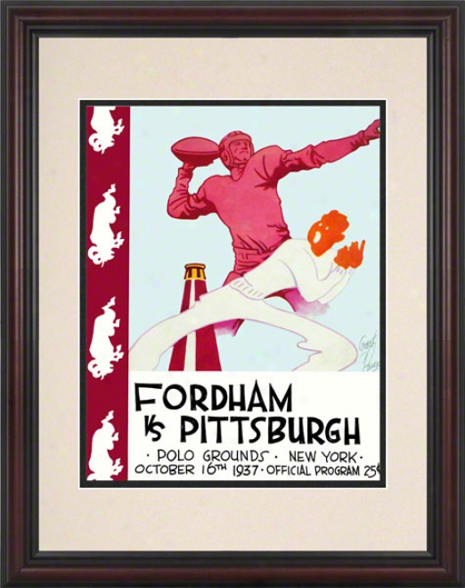 1937 Fordham Vs. Pitt 8.5 X 11 Framed Historic Football Print
