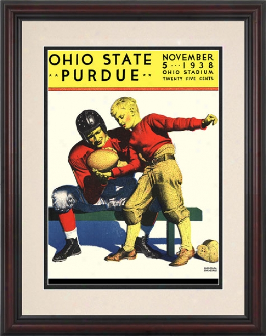 1938 Ohio State Buckeyes Vs. Purdue Boilermakers 8.5 X 11 Framed Historic Football Print