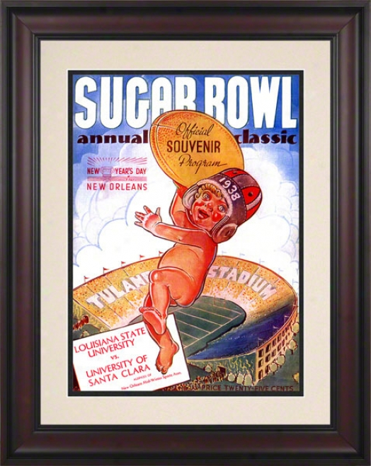 1938 Santa Clara Vs. Lsu10.5x14 Framed Historic Football Print