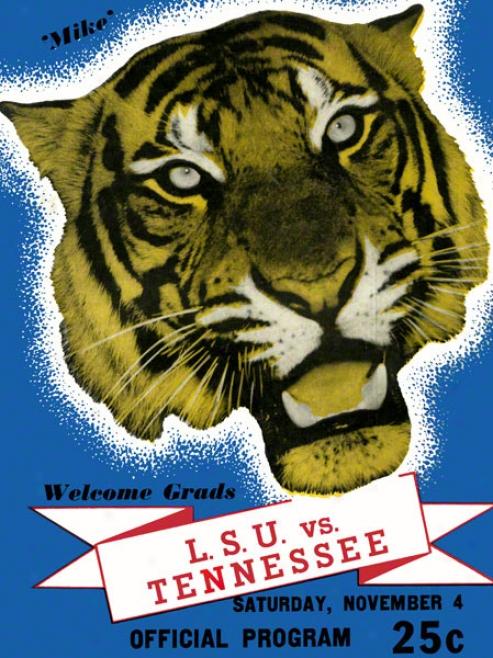 1939 Lsu Vs. Tennessee 22 X 30 Canvas Historic Footballl Print