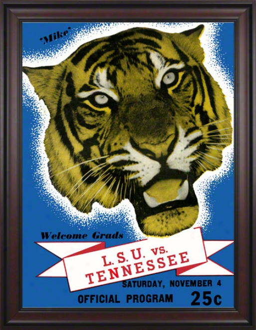 1939 Lsu Vd. Tennessee 36 X 48 Framed Canvas Historic Footgall Print
