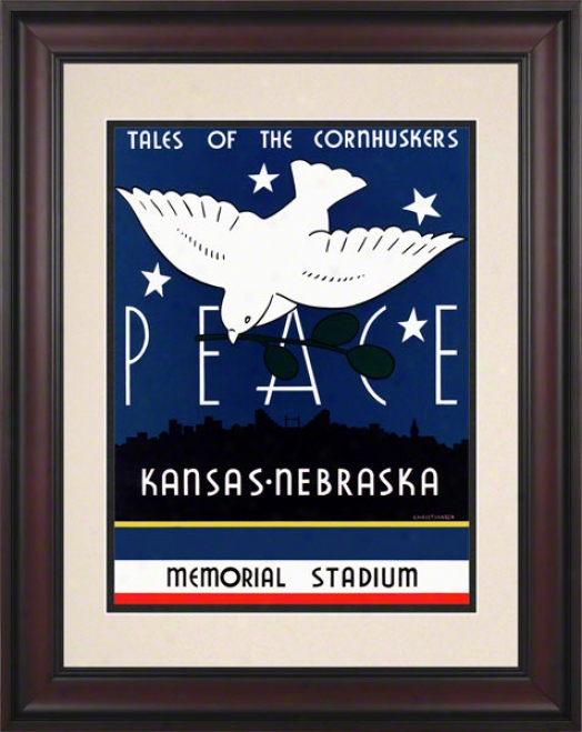 1939 Nebraska Vs. Kansas 10.5x14 Framed Historic Football Print