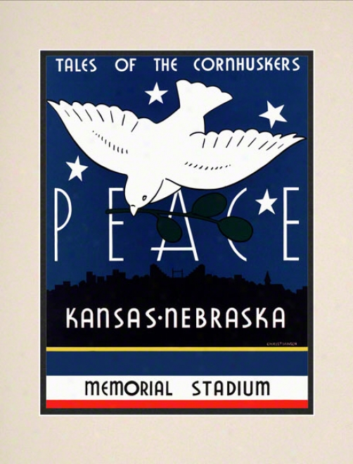 1939 Nebraska Vs. Kansas 10.5x14 Matted Historiic Football Print