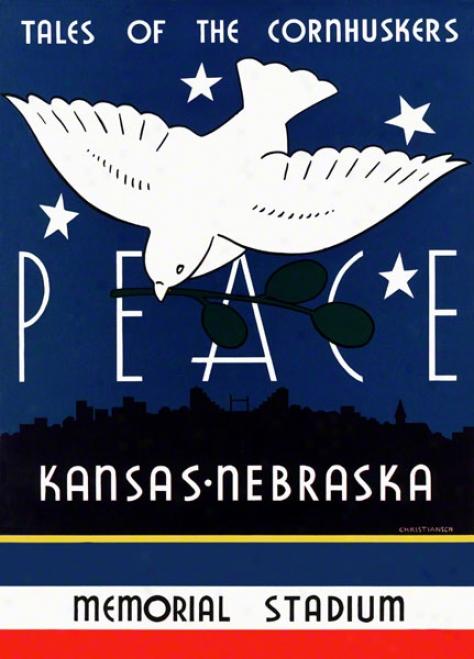 1939 Nebraska Vs. Kaneas 22 X 30 Canvas Historic Football Print