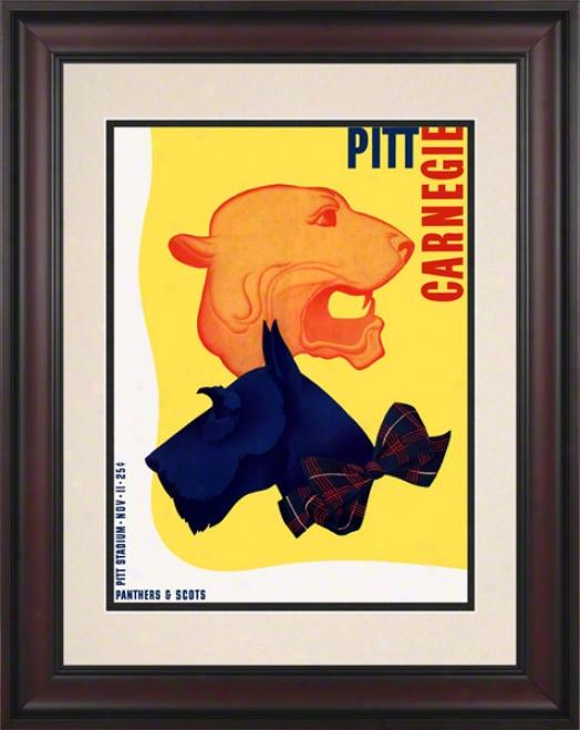 1939 Pitt Vs. Carnegie Tech 10.5x14 Framed Historic Football Print