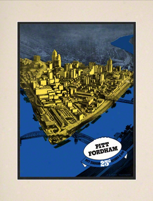 1940 Pitt Vs. Fordham 10.5x14 Matted Historic Footall Print