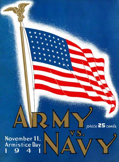 1941 Army Vs. Navy 36 X 48 Canvas Historic Football Print