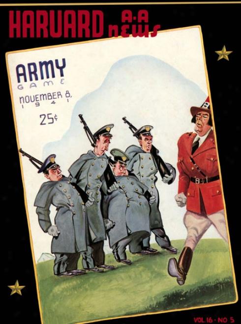 1941 Harvard Crimson Vs. Army Black Knights 36 X 48 Canvas Historic Football Print