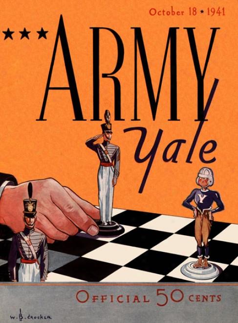 1941 Yale Bulldogs Vs. Army Black Knights 36 X 48 Canvas Historic Football Print