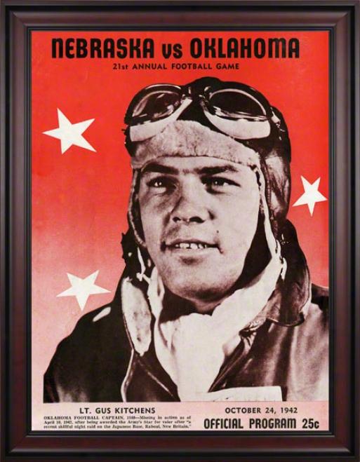 1942 Oklahoma Vs Nebraska 36 X 48 rFamed Canvas Historic Football Print