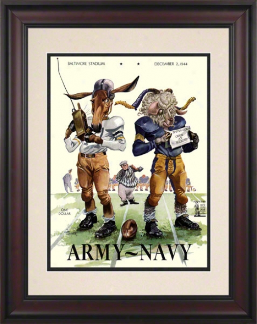 1944 Army Vs. Navy 10.5x14 Framed Historic Football Print