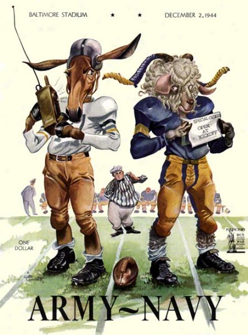 1944 Army Vs. Navy 22 X 30 Canvas Historic Football Print