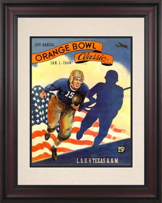 1944 Lsu Vs. Texas A&m 10.5x14 Framed Historic Football Prnit