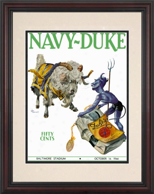 1944 Navy Midshipmen Vs. Duke Blue Devils 8.5 X 11 Framed Historic Foorball Print