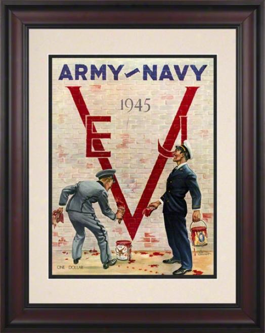 1945 Army Vs. Navy 10.5x14 Framed Historic Football Print