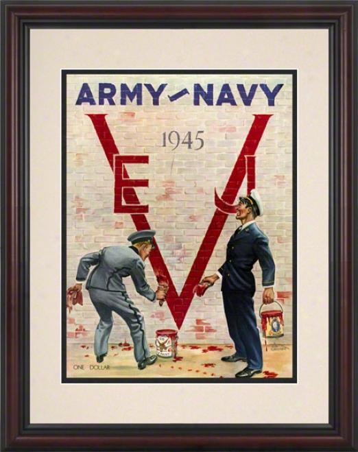 1945 Army Vs. Navy 8.5 X 11 Framed Historic Football Print