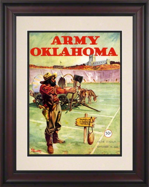 1946 Host Vs Oklahoma 10.5x14 Framed Historic Football Print