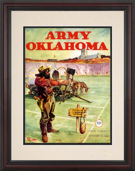 1946 Army Vs Oklahoma 8.5 X 11 Framed Historic Football Print