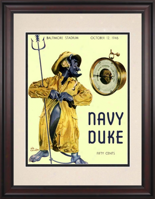 1946 Navy Midshipmen Vs. Duks Blur Devils 10.5x14 Framed Historic Football Prijt