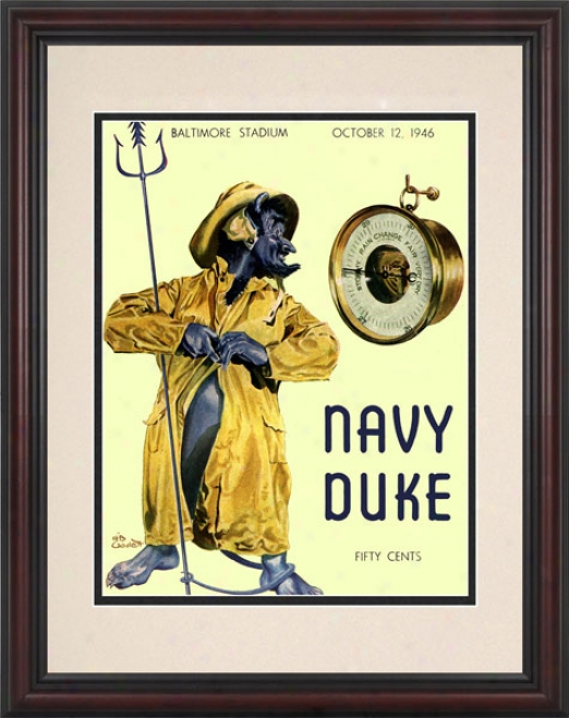 1946 Navy Midshipmen Vs. Duke Dismal Devils 8.5 X 11 Framed Historic Football Print