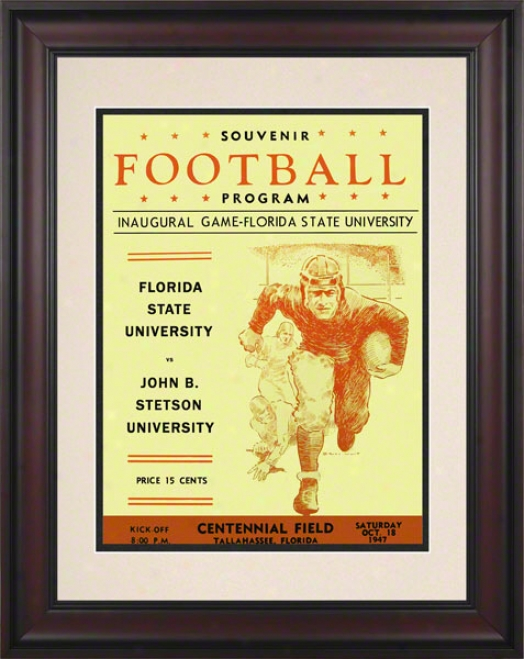 1947 Florida State First Game 10.5x14 Framed Historic Football Print