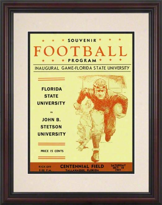 1947 Florida Express  First Game 8.5 X 11 Framed Historic Footbalp Print