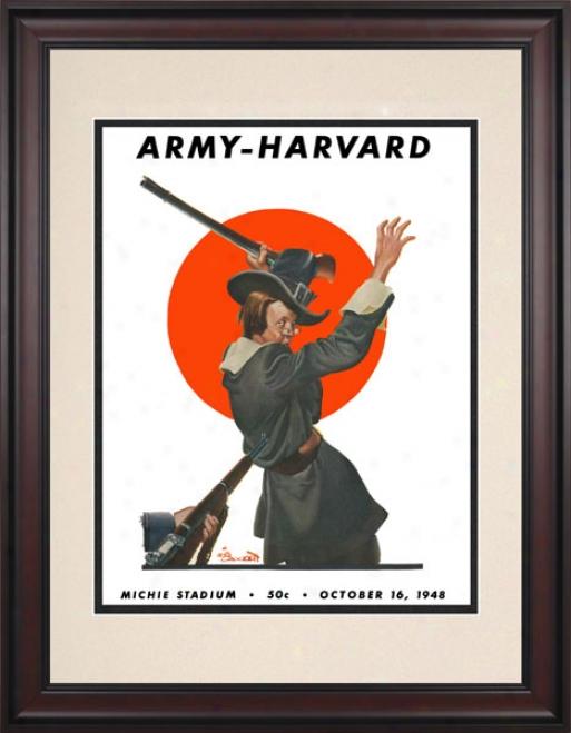 1948 Army Black Knights Vs. Harvard Crimson 10.5x14 Framed Historic Football Print