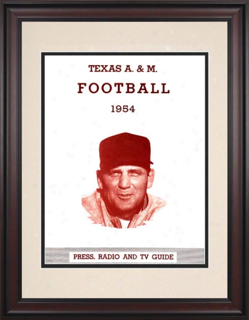 1954 Texas A&m Aggies - Bryant 10.5x14 Framed Historic Football Print