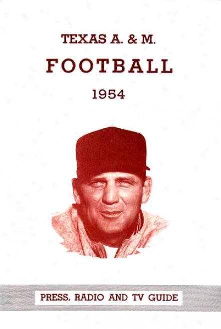 1954 Texas A&m Aggies - Bryant 22 X 30 Canvas Historic Football Print