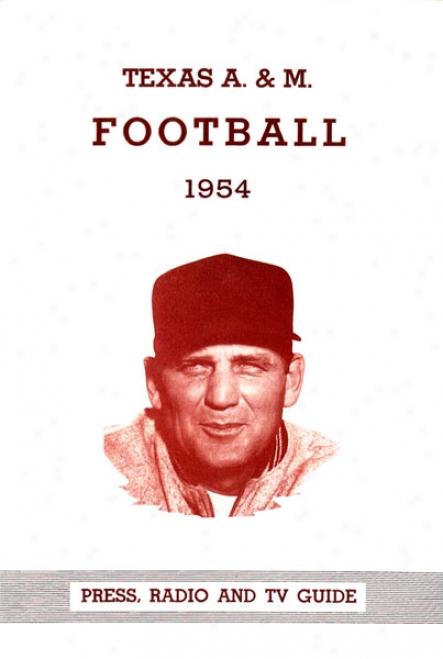 1954 Texas A&m Aggies - Bryant 36 X 48 Canvas Historic Football Print