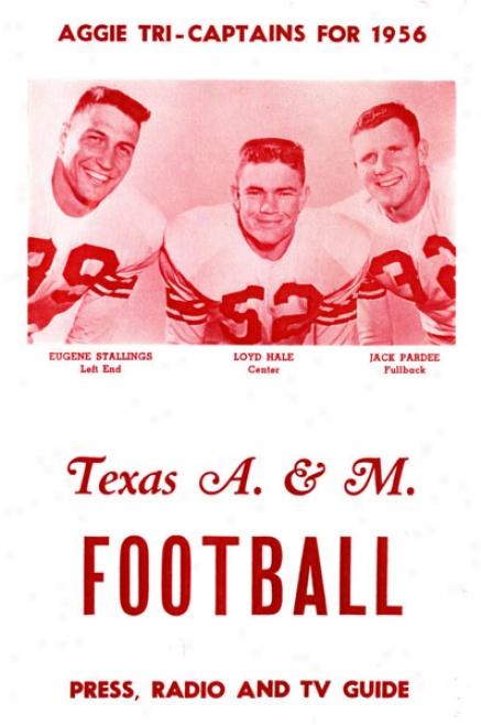 1956 Texas A&m Aggies 36 X 48 Canvas Hisstoric Fotball Print