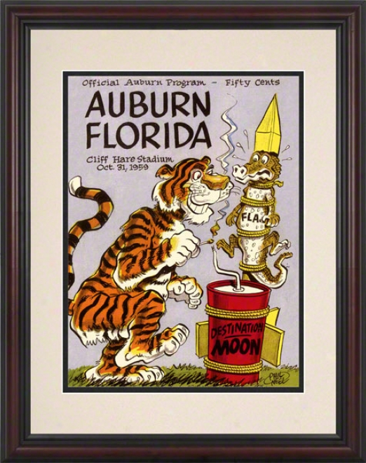 1959 Auburn Vs. Florida 8.5 X 11 Framed Historic Football Print