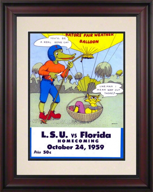 1959 Florida Vs. Lsu 10.5x14 Framed Historic Football Impress