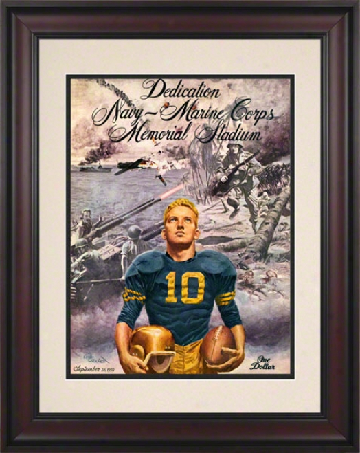 1959 Navy Stadium Dedication 10.5x14 Fraed Historic Football Print