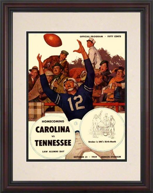 1959 North Carolina Vs. Tennessee 8.5 X 11 Framed Histroic Football Print