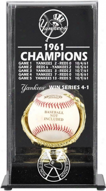 1961 New York Yankees World Series Champs Display Case