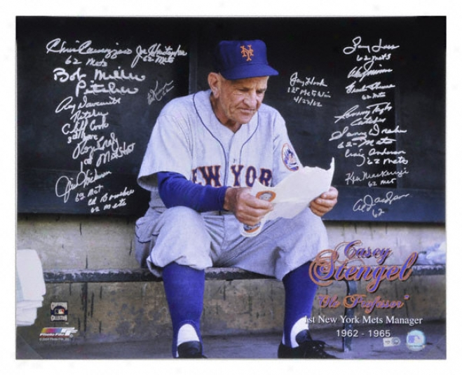 1962 New York Mets Autographed Photograph  Particulars: 1st Mets Manater Tribute, Team Signed, 19 Signatures, 16x20